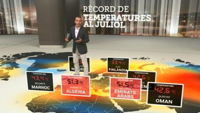 Rècords de calor mundial al mes de juliol