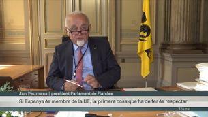 el president del parlament flamenc es reafirma en la protesta