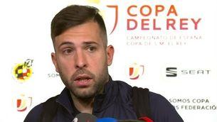 """Jordi Alba: """"Estic molt orgullós de l'equip; hem fet un molt bon partit"""""""