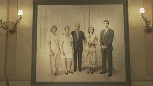 Retrat de la família real al Palau Reial