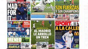 La desfeta blanca a les portades de la premsa madrilenya