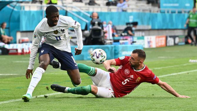 La lesió de Dembélé podria bloquejar la seva sortida del Barça