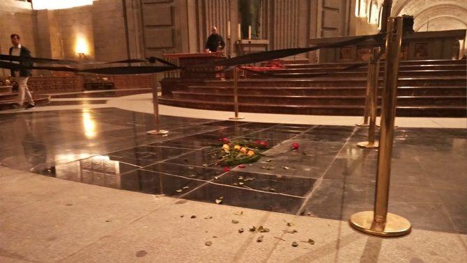 El lloc on hi havia la tomba de Franco, al Valle de los Caídos