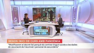 """J. Gonzàlez-Cambray: """"Modificarem el decret llei perquè els centres tinguin accés a les dades de vacunació"""""""
