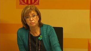 La consellera d'Ensenyament, Irene Rigau, durant la valoració dels resultats de l'informe PISA.