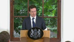 George Osborne ha llegit un comunicat a primera hora d'aquest dilluns