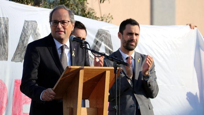 El president Torra, durant el seu discurs (ACN)