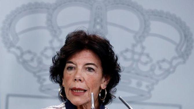 Isabel Celaá, ministra portaveu del govern de Pedro Sánchez (EFE)