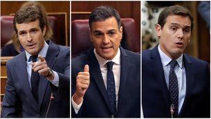 """Casado i Rivera acusen Sánchez de voler """"enganyar"""" amb uns pressupostos """"il·legals"""""""