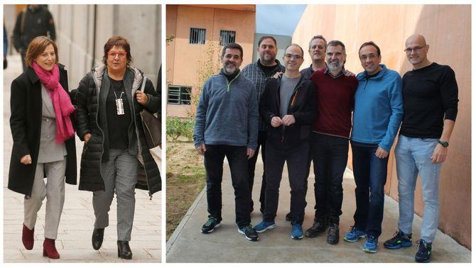 Els nou dirigents independentistes que estan en presó preventiva