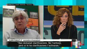 """Clara Ponsatí: """"En qualsevol comunitat democràtica, els fets de l'1-O no es consideren un delicte"""""""