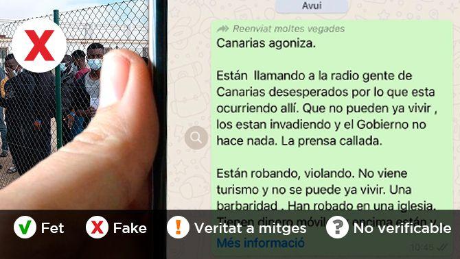 Les dades desmunten les mentides sobre l'arribada d'immigrants a les Canàries