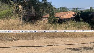 Zona de matolls on s'ha trobat una dona morta a Sant Vicenç de Castellet