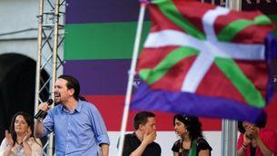 Iglesias, durant el míting d'aquest dimarts a Vitòria (EFE)