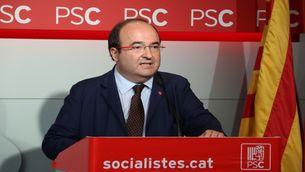 Pla mitjà del primer secretari del PSC, Miquel Iceta, el 2 d'octubre del 2017