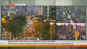 """Milers de persones participen en la marxa """"per la llibertat dels presos polítics"""""""