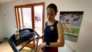 Marta Galimany es prepara pels Jocs Olímpics confinada a casa