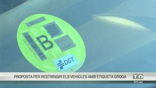 Els vehicles amb etiqueta groga, els propers que no podran circular per la ZBE