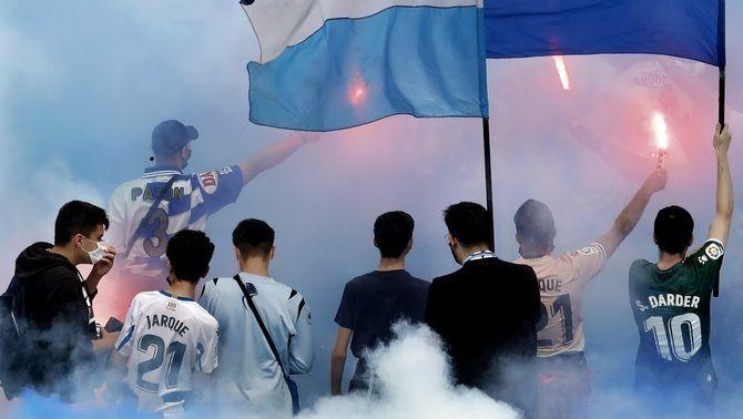 Festa grossa a l'RCDE Stadium per celebrar l'ascens a Primera