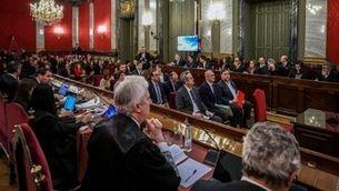 Imatge d'una de les sessions del judici del TS contra els dirigents independentistes