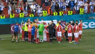 Ensurt d'Eriksen al Dinamarca-Finlàndia
