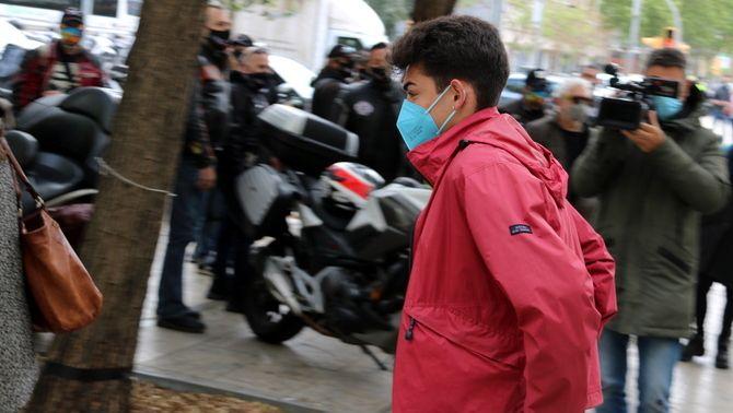 Guillem Padilla, entrant a la Ciutat de la Justícia el 14 d'abril