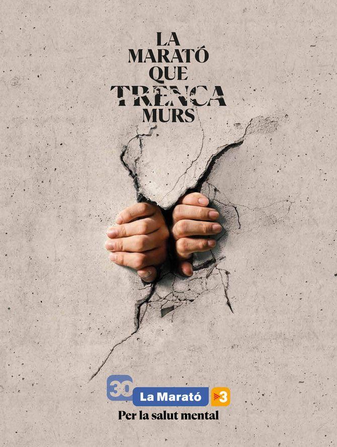 Cartell de La Marató 2021, dedicada a la salut mental