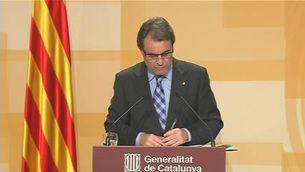 Intervenció íntegra d'Artur Mas anunciant noves mesures d'austeritat
