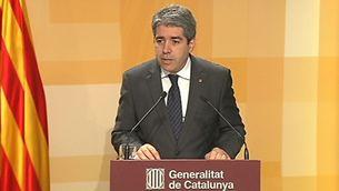 El portaveu del govern, Francesc Homs, en roda de premsa