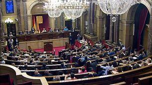 El Parlament en el moment de la votació