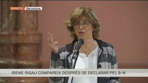 """Rigau, després de declarar pel 9-N: """"Complia un mandat del Parlament"""""""