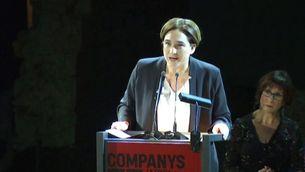 L'alcaldessa de Barcelona, Ada Colau, en l'homenatge de Barcelona a Companys