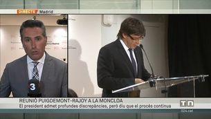 Trobada cordial entre Rajoy i Puigdemont, però sense marge d'error