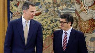 El rei Felip VI i el president del Congrés, Patxi López