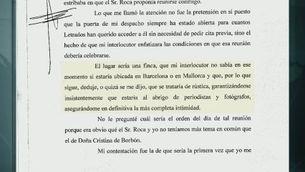 El jutge Castro revela que Miquel Roca li va demanar una reunió extrajudicial