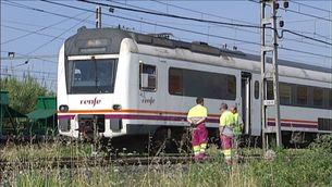El tren que ha provocat l'avaria a la catenària prop de l'estació de Tarragona
