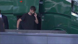 Els jugadors del Barça arriben a l'hotel
