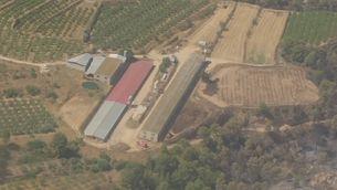 L'autocombustió de fems en una granja, origen del foc de la Ribera d'Ebre