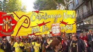 Concentració catalanista a la Catalunya Nord