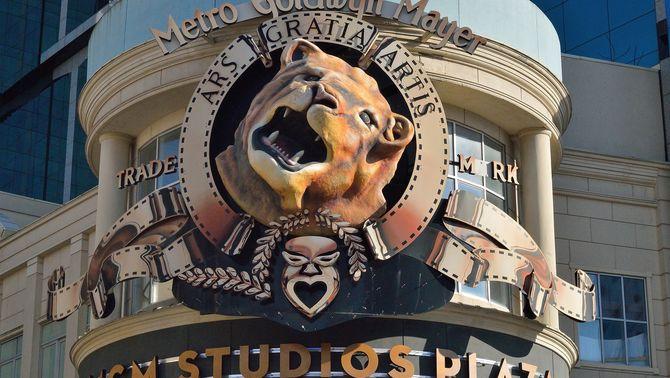 El logo de la Metro-Goldwyn-Mayer, als estudis de la companyia (Pixabay / Ray Miller)