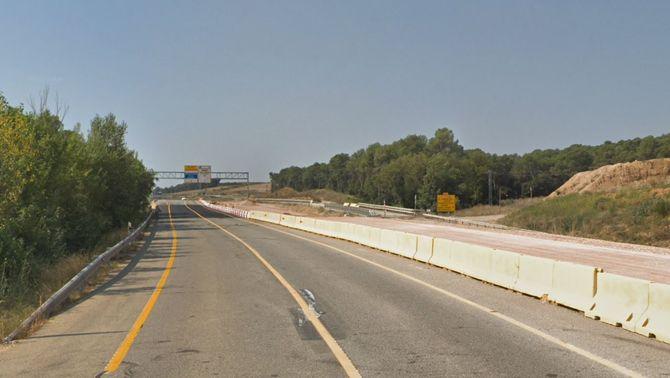 El tram de la N-II on ha passat l'accident (GoogleMaps)