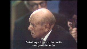 El 24 d'octubre del 1971, en un discurs improvisat i molt emotiu, Pau Casals es va reafirmar com a català davant el plenari de les Nacions Unides