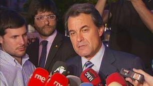 La reacció dels partits catalans