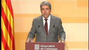 El portaveu del govern, Francesc Homs