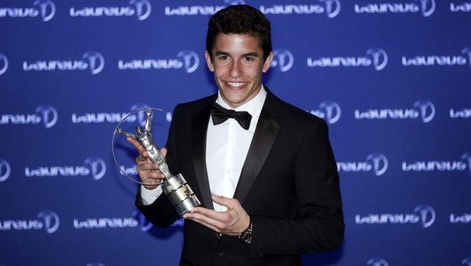 Marc Márquez rep el premi Laureus a l'esportista revelació de l'any