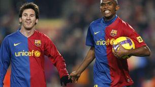Messi i Eto'o, nominats al millor gol de la història de la UEFA (Foto: Reuters)