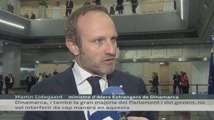 El ministre d'Exteriors de Dinamarca matisa, a instàncies de García-Margallo, el suport del parlament al procés català