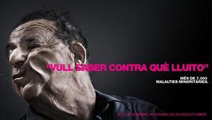 Cartell de La Marató 2009, dedicada a les malalties minoritàries