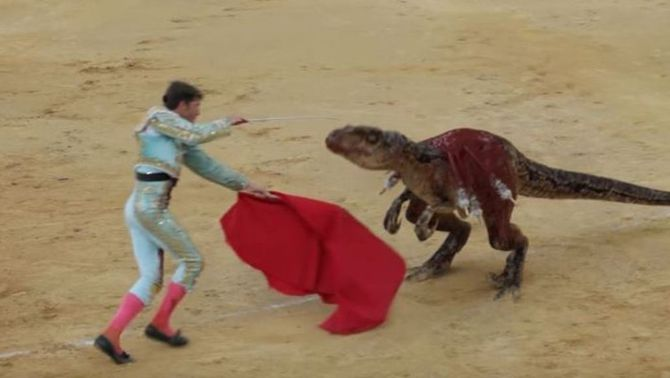 Una campanya francesa contra les corrides canvia toros per dinosaures