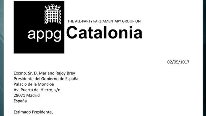 Carta dels diputats britànics a Rajoy per aturar el procés contra Forcadell
